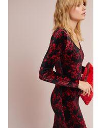 HD In Paris   Dierdre Velvet Column Dress   Lyst
