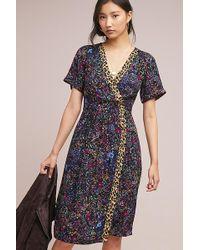 Maeve - Claudia Printed Wrap Dress - Lyst