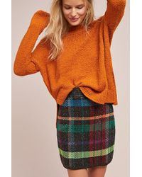 Cecilia Prado - Textured Plaid Mini Skirt - Lyst