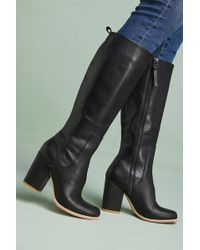 Bill Blass - Leather Knee-high Boots - Lyst