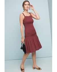 087bd416c8db Anthropologie Painterly Pleated Dress in Pink - Lyst