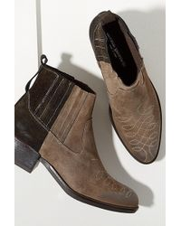 Anthropologie - Colourblocked Suede Cowboy Boots - Lyst