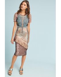 Byron Lars Beauty Mark - Beachcomber Column Dress - Lyst