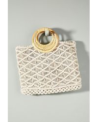 Anthropologie - Woven Macrame Tote Bag - Lyst