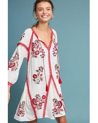 Ranna Gill | Hadley Embroidered Tunic Dress | Lyst