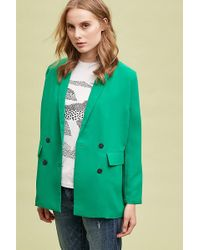 SELECTED - Femme Double Breasted Long Blazer - Lyst