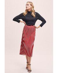 Second Female - Metallic-striped Pleated Midi Skirt - Lyst