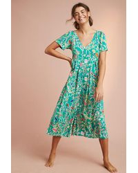 Anthropologie - Lina Floral-print Sleep Jumpsuit - Lyst