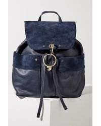 Liebeskind - Suede-trimmed Leather Backpack - Lyst