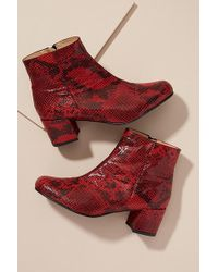 Anthropologie - Printed Snake Ankle Boot - Lyst