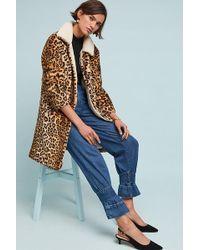 Anthropologie - Jakett Leopard Coat - Lyst