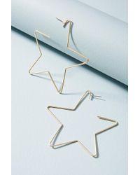 Anthropologie - Starry Night Hoop Earrings - Lyst