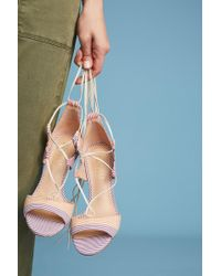Billy Ella - Striped Lace-up Heels - Lyst