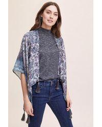 Anthropologie - Demi Tasselled-printed Kimono - Lyst