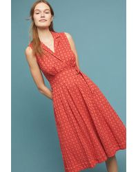 e3f13ac81860 Anthropologie Naomi Ruffled Halter Dress, Pink in Pink - Lyst