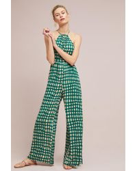 Plenty by Tracy Reese - Checked Wide-leg Jumpsuit - Lyst