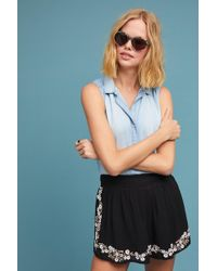 Chloe Oliver - Daisy Embroidered Shorts - Lyst