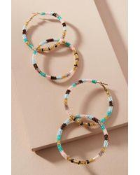 Olivia Dar - Beaded Stripes Drop Earrings - Lyst