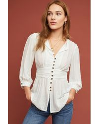 Maeve - Isolode Waisted Blouse - Lyst