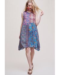 Tolani - Cassie Patchwork-printed Dress - Lyst