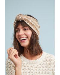 Anthropologie - Tweed Bow Headband - Lyst
