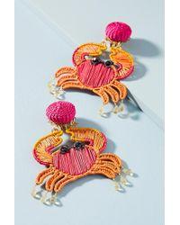 Mercedes Salazar - Woven Crab Drop Earrings - Lyst