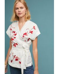 Anthropologie - Elodie Wrap Blouse - Lyst