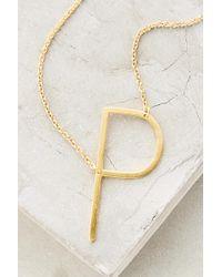 Anthropologie - Monogram Pendant Necklace - Lyst