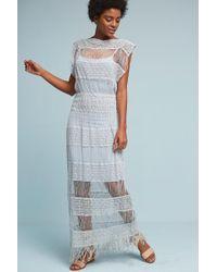 Callahan - Nightward Crocheted Maxi Dress, Black - Lyst