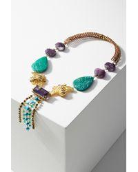 Katerina Psoma - Aqua Stone Necklace - Lyst