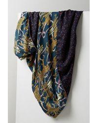 Anthropologie - Double Festive Leopard-print Silk Scarf - Lyst