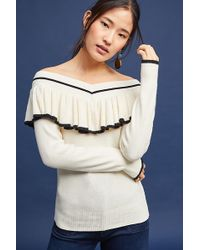 Anthropologie - Sonia Off-the-shoulder Top, Ivory - Lyst