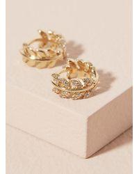 Anthropologie - Athena Mini Hoop Earrings - Lyst