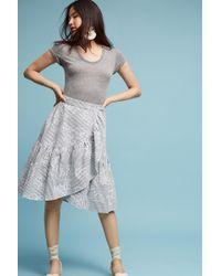 Eva Franco - Hibiscus Wrap Skirt, Grey - Lyst