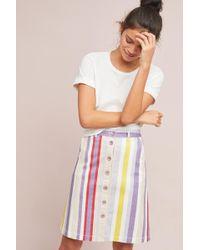 Maeve - Seafaring Striped Skirt - Lyst