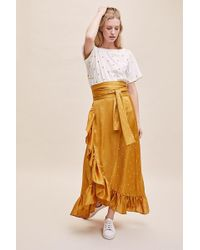 Anthropologie - Amby Ruffled-wrap Skirt - Lyst