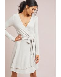 3bfe3497686 Saturday/sunday - Cloudfleece Wrap Dress - Lyst