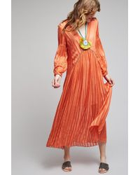 Bl-nk - Albano Maxi Dress, Yellow - Lyst