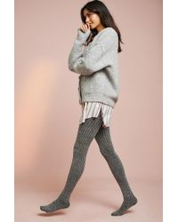 Pure + Good - Tweed Ribbed Tights - Lyst