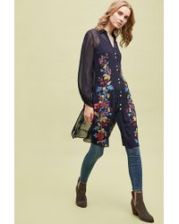Anthropologie - Carly Embroidrered Tunic - Lyst