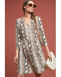 1b67fbaca93 Maeve Kira Embroidered Tunic Dress in Blue - Lyst