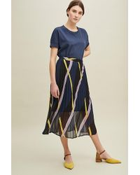 fc7492824fc9 Just Female - Moe Pleated-printed Skirt - Lyst