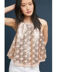 Sunday In Brooklyn - Patterned Sequin Top - Lyst