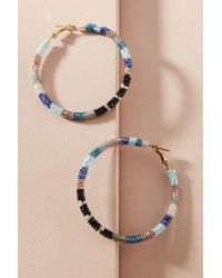 Olivia Dar - Beaded Stripes Hoop Earrings - Lyst