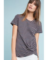 Stateside - Twisted-front Stripe Top - Lyst
