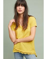 cabe8ed991a67 Lyst - Left Of Center Slanted Tee in Blue