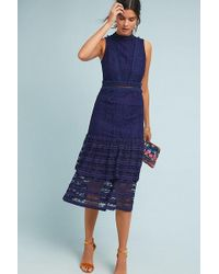 10f0847b02fb Anthropologie - Maybel Ruffled-tiered Lace Dress - Lyst