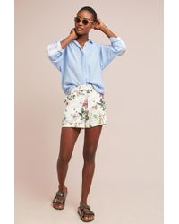 Level 99 - High-rise Denim Shorts - Lyst