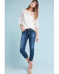 Anthropologie - Ag The Stilt Low-rise Cigarette Cropped Jeans - Lyst