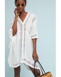 Muche Et Muchette - Embroidered Linen Poncho - Lyst